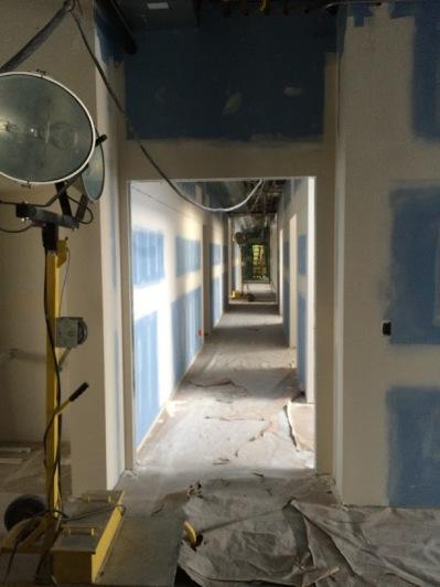 Downstairs Hallway, Drywall
